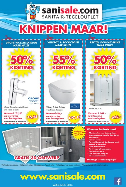 Sanisale Advertentie augustus 2016 Custom
