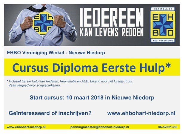 Flyer EHBO Cursus 2018 BorderMaker